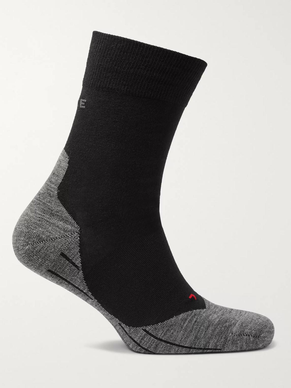 falke ergonomic sport system - ru4 stretch-knit socks - men - black