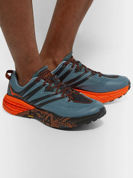 Hoka One One Speedgoat 3 Rubber-Trimmed Mesh Trail Running Sneakers