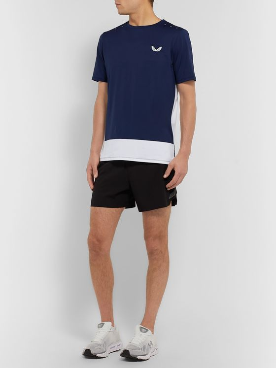 CASTORE Samuel Colour-Block Stretch-Mesh T-Shirt
