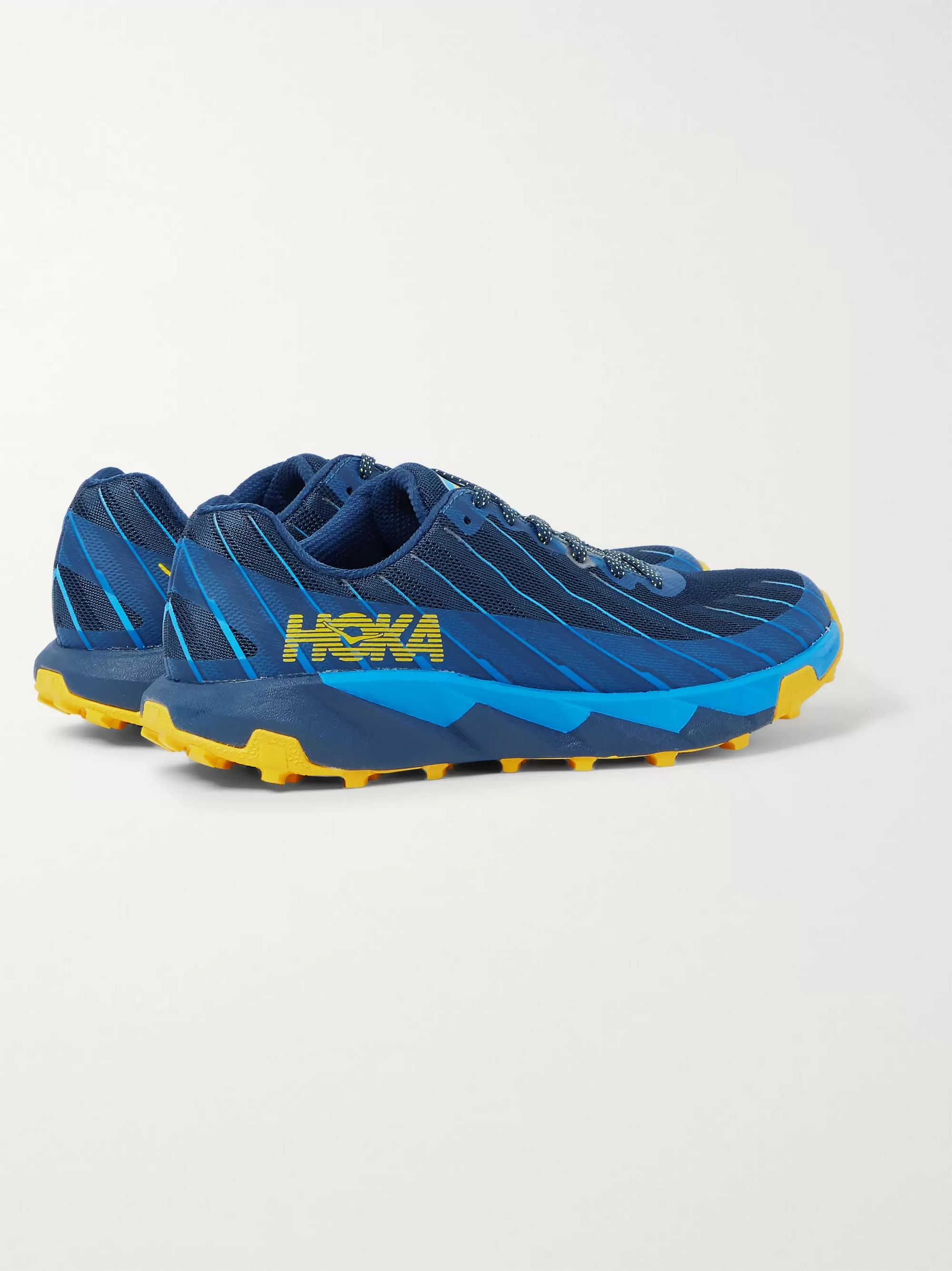 Hoka One One Torrent Rubber-Trimmed Mesh Sneakers