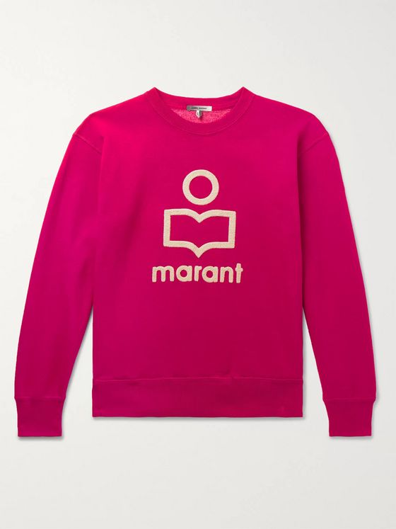 Isabel Marant Mikeli Logo-Appliquéd Fleece-Back Cotton-Blend Jersey Sweatshirt