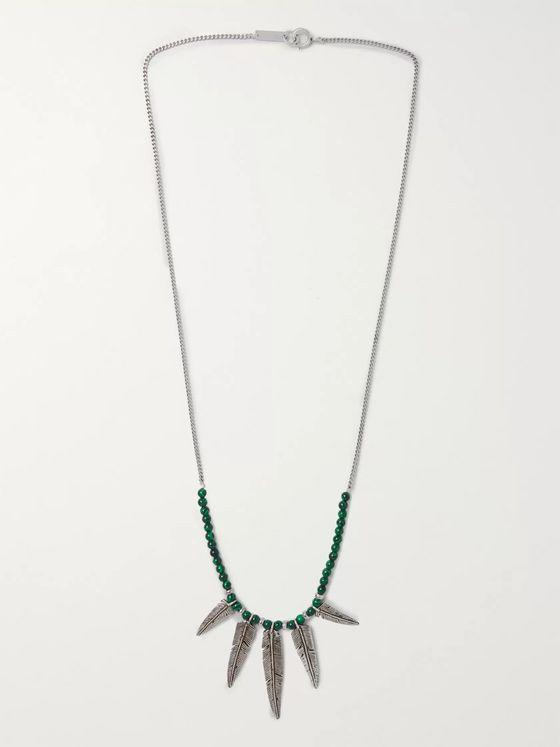 Isabel Marant Silver-Tone Beaded Enamel Necklace