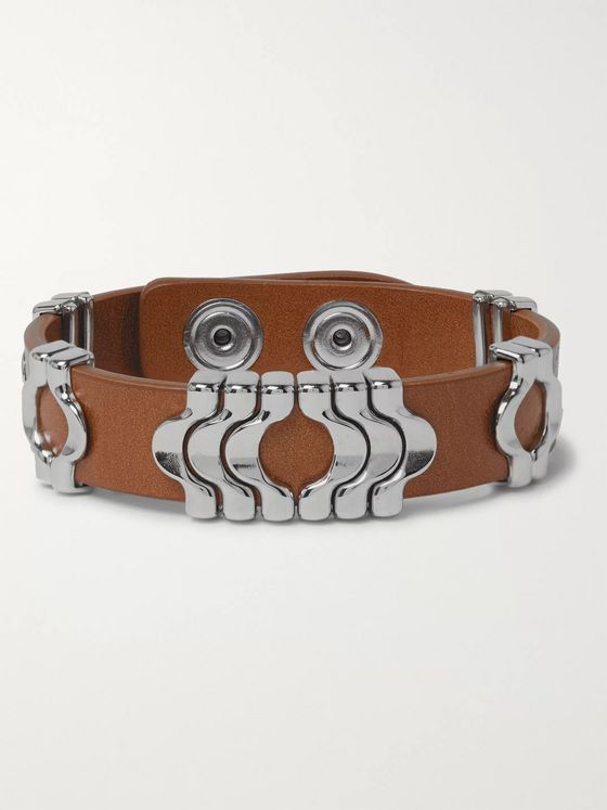 Isabel Marant Leather and Silver-Tone Bracelet