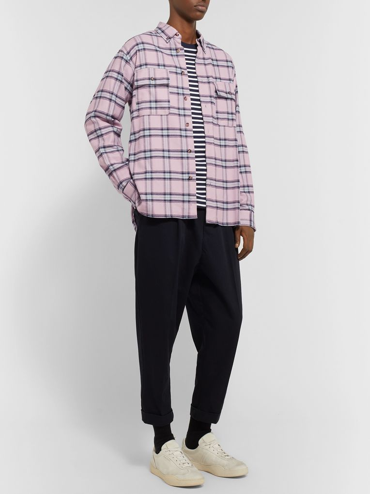 Isabel Marant Yarol Checked Cotton-Flannel Shirt