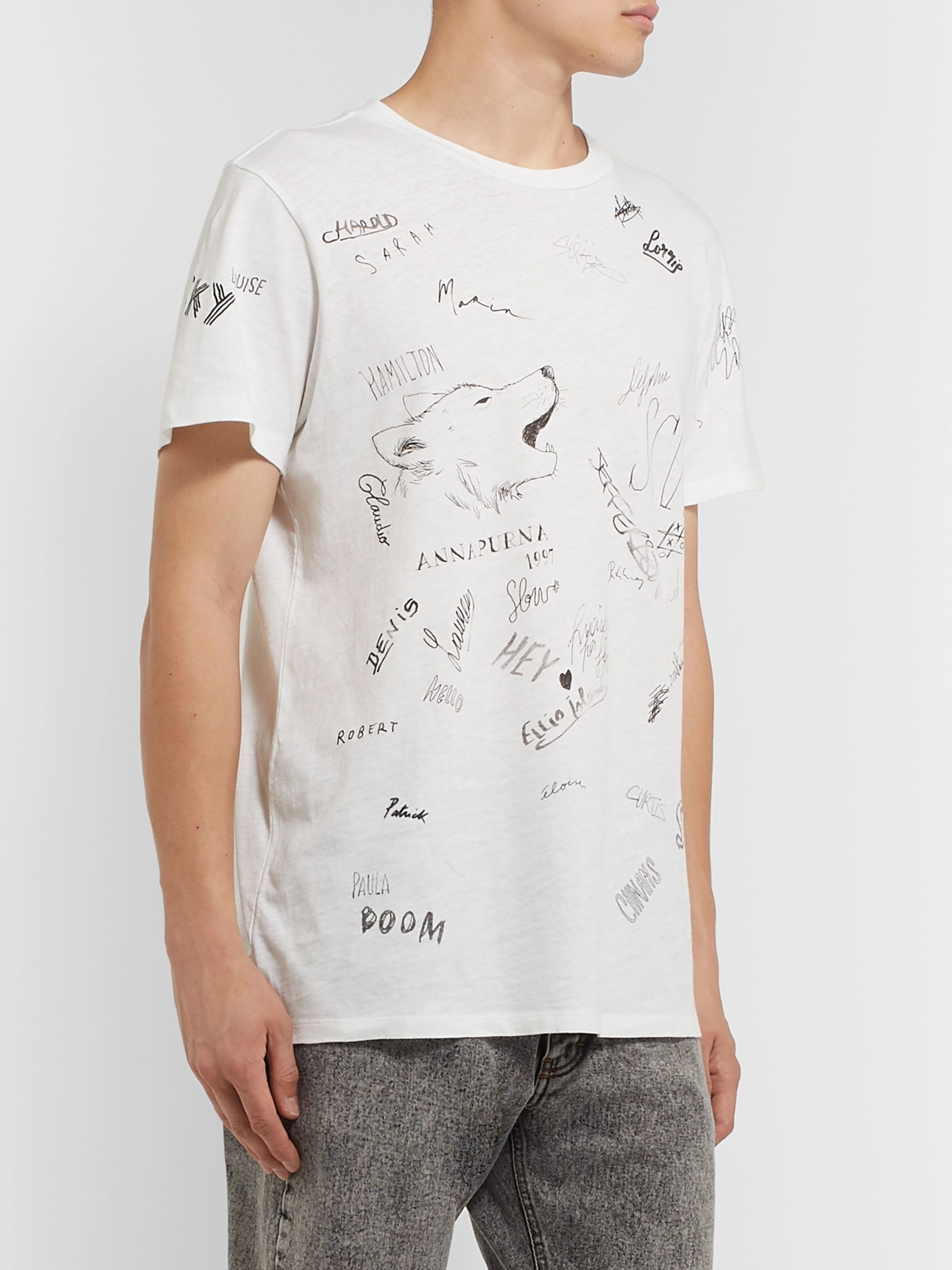Isabel Marant Zafferh Printed Cotton-Jersey T-Shirt