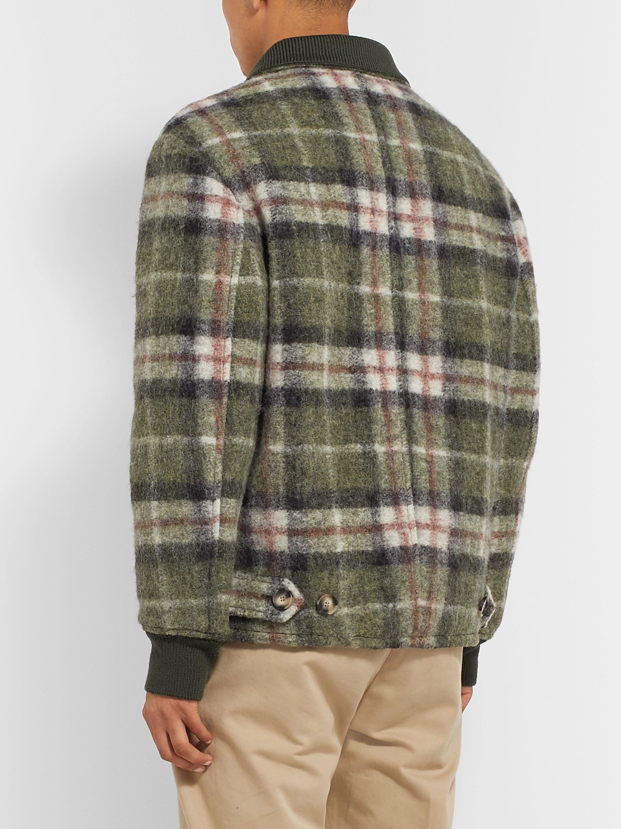 Isabel Marant Geeno Checked Wool-Blend Jacket