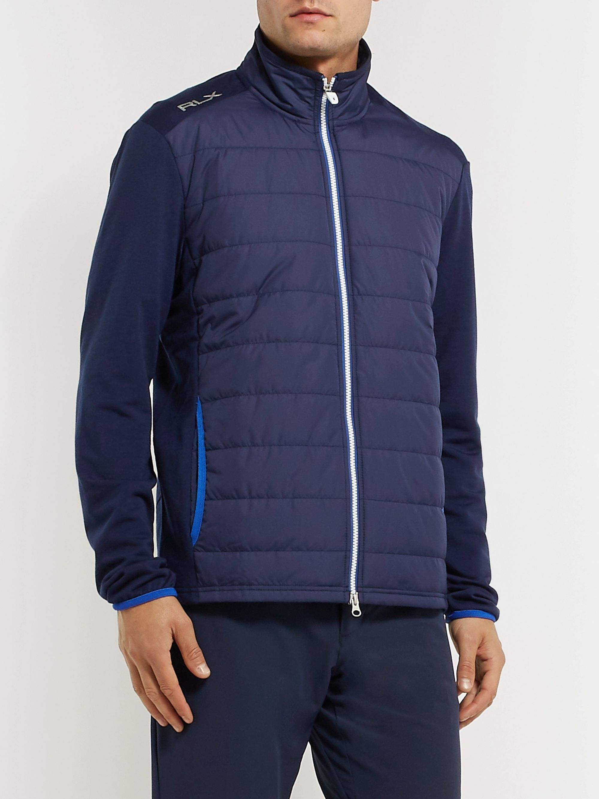 RLX Ralph Lauren Quilted Shell and Wool-Blend Golf Jacket