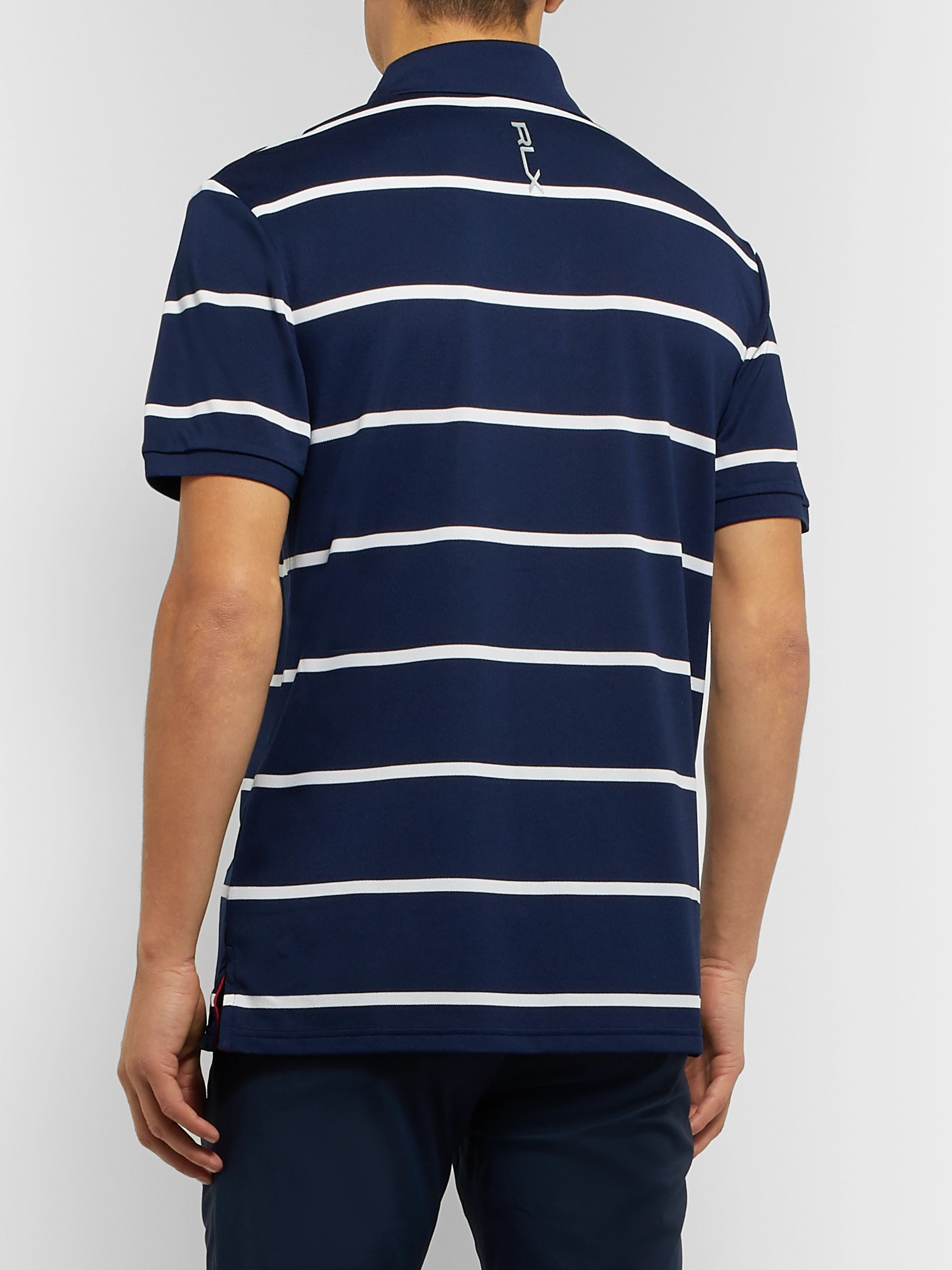 RLX Ralph Lauren Striped Tech-Piqué Golf Polo Shirt