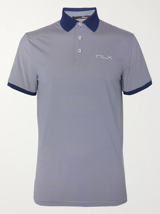 RLX Ralph Lauren Striped Tech-Jersey Golf Polo Shirt