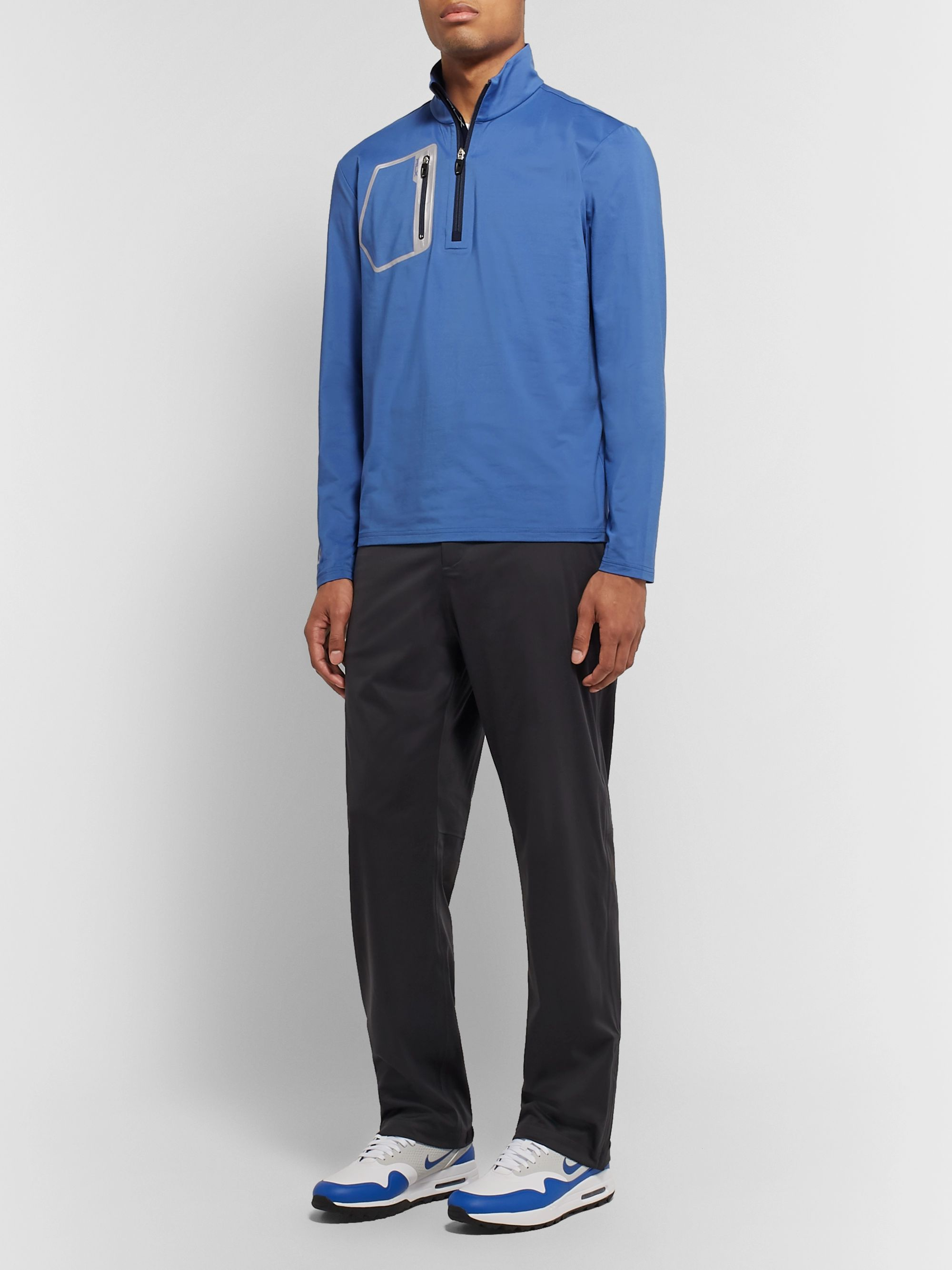 RLX Ralph Lauren Stretch-Jersey Half-Zip Golf Top