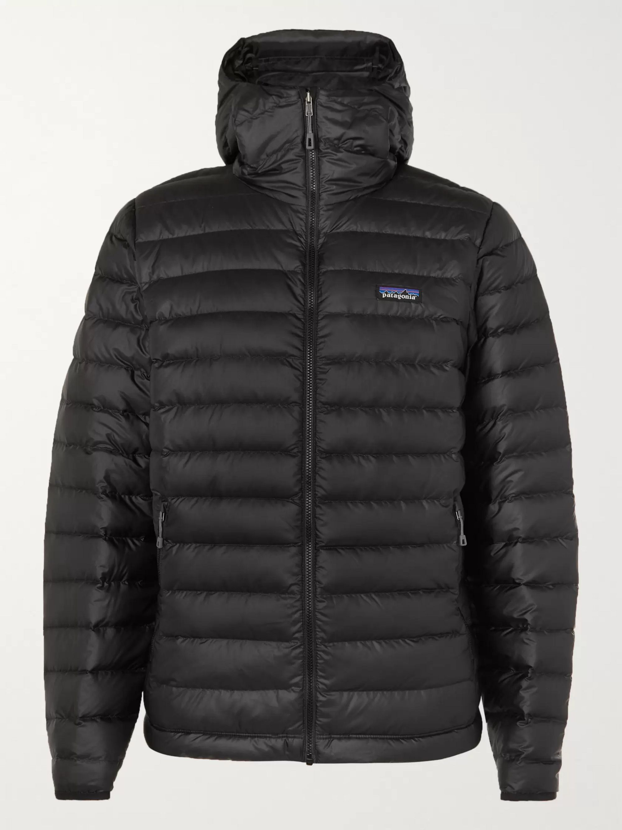 Patagonia Quilted Ripstop Hooded Down Jacket