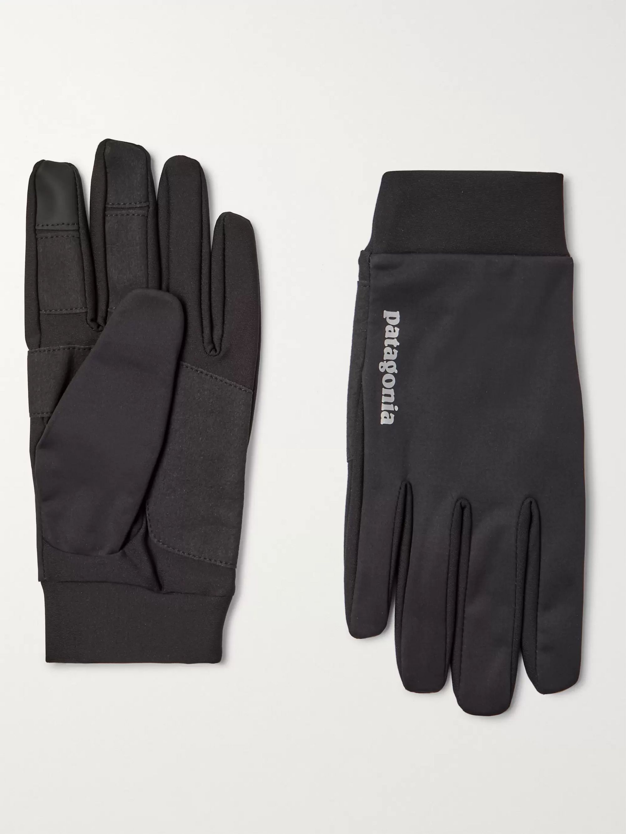 Patagonia Logo-Print Wind Shield Gloves