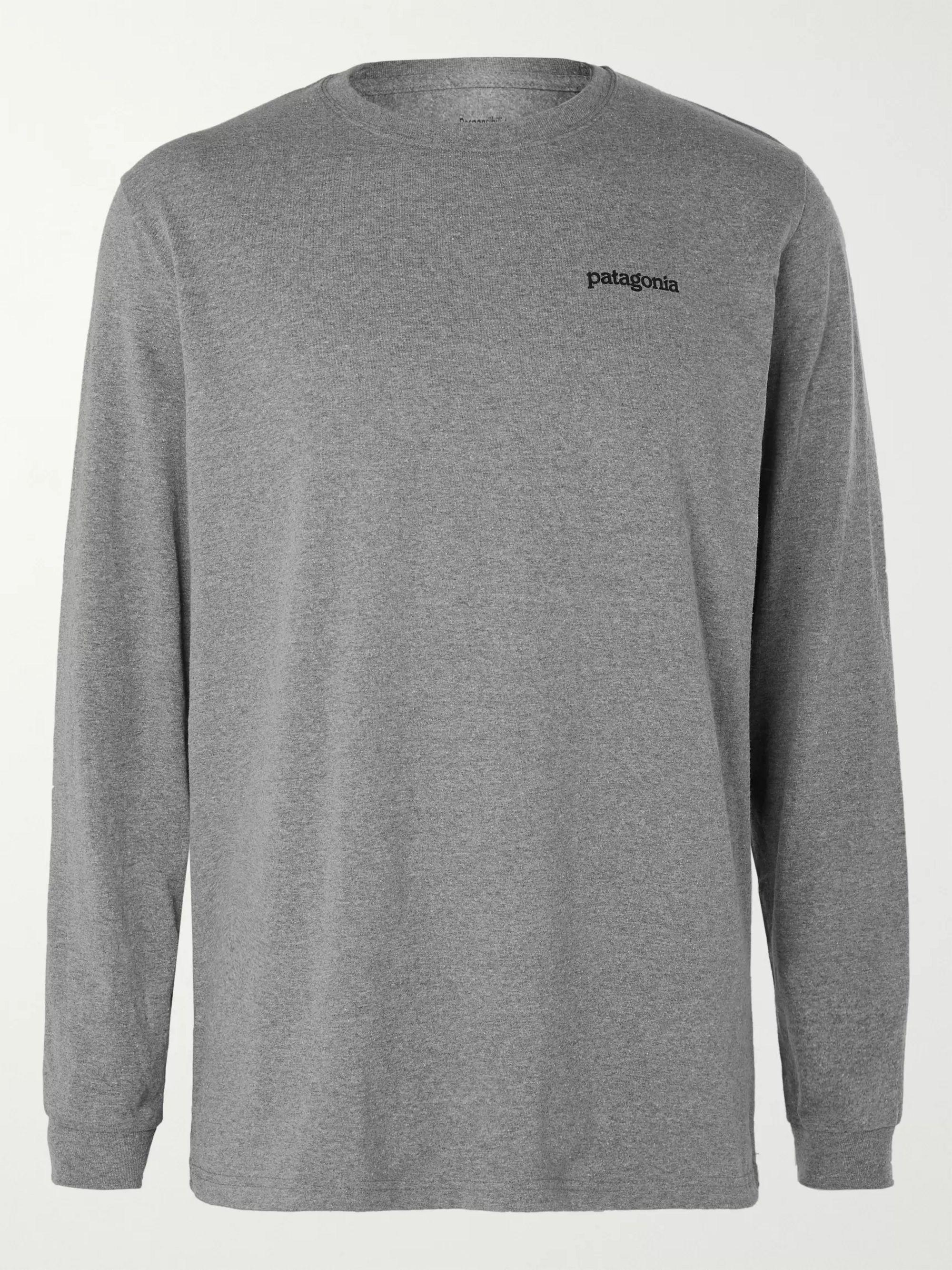 Fitz Roy Horizons Logo Responsibili Tee Printed Cotton Blend Jersey T Shirt by Patagonia