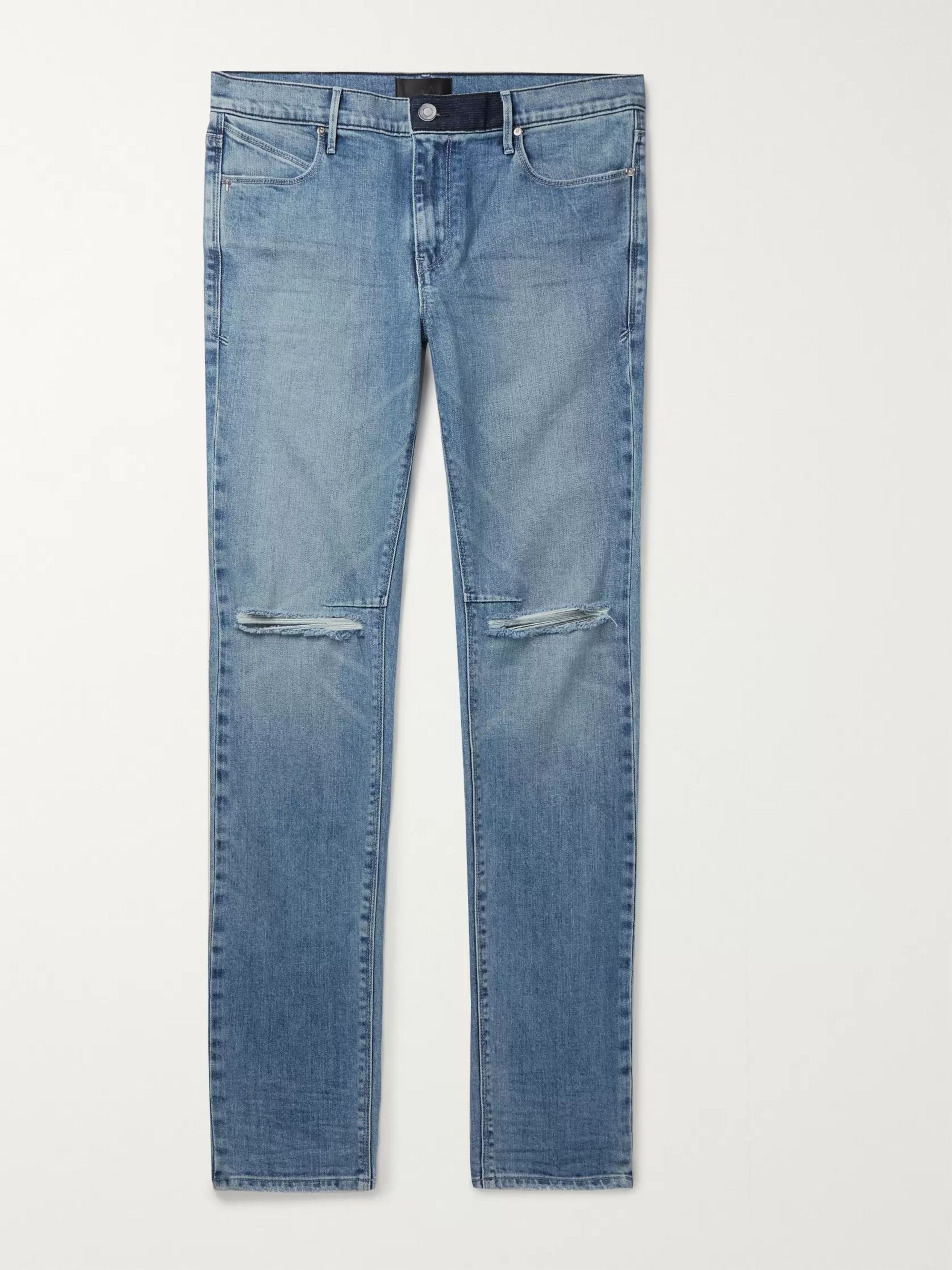 RtA Skinny-Fit Distressed Denim Jeans