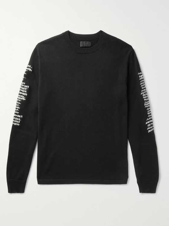 RtA Logo-Embroidered Cashmere Sweater