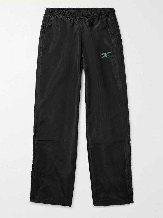 Resort Corps Logo-Embroidered Shell Drawstring Trousers