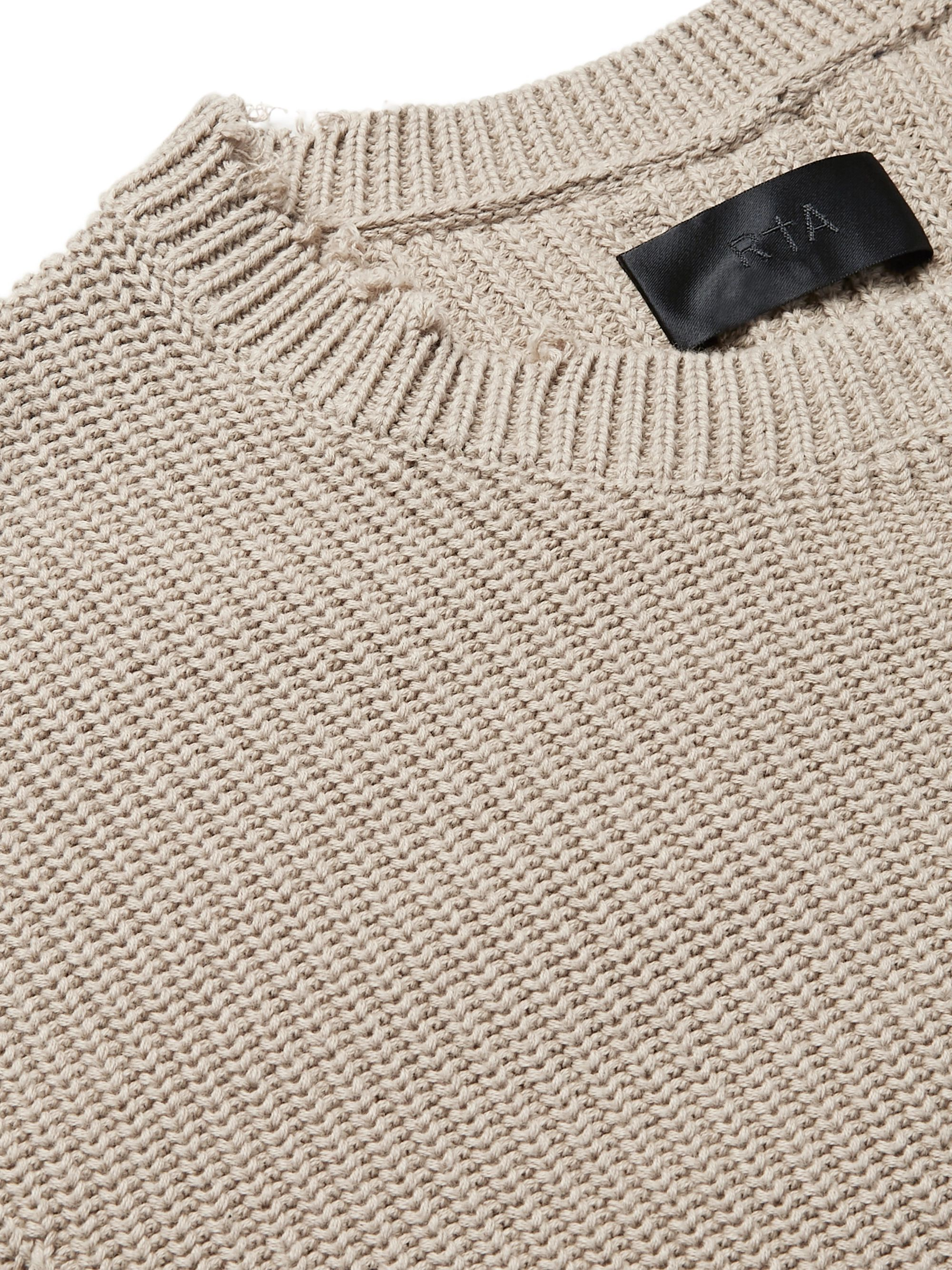 RtA Distressed Cotton Sweater