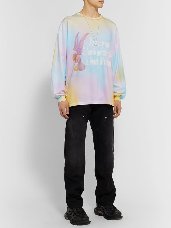 Resort Corps Printed Tie-Dyed Cotton-Jersey T-Shirt