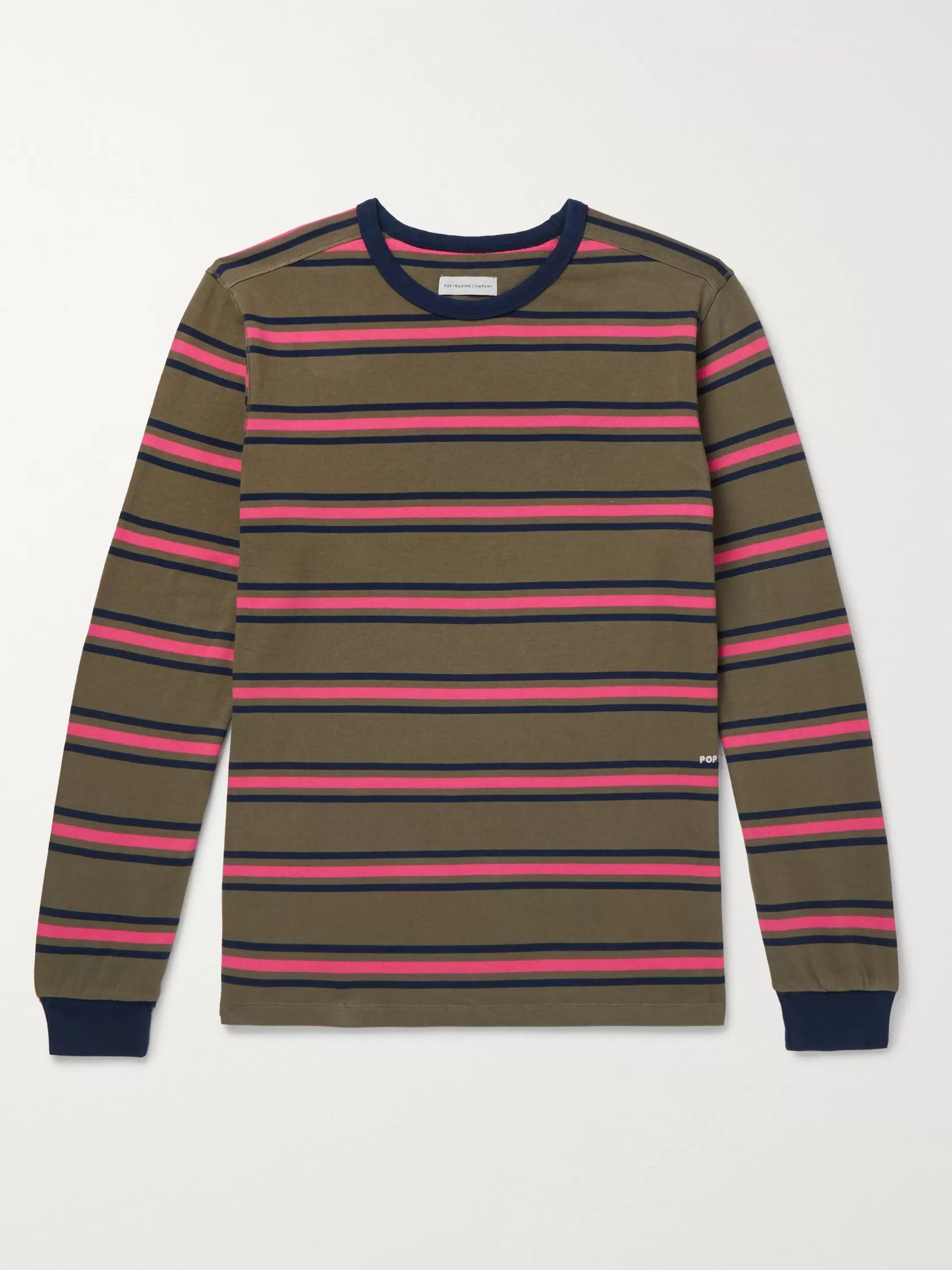 Pop Trading Company Harold Striped Cotton-Jersey T-Shirt