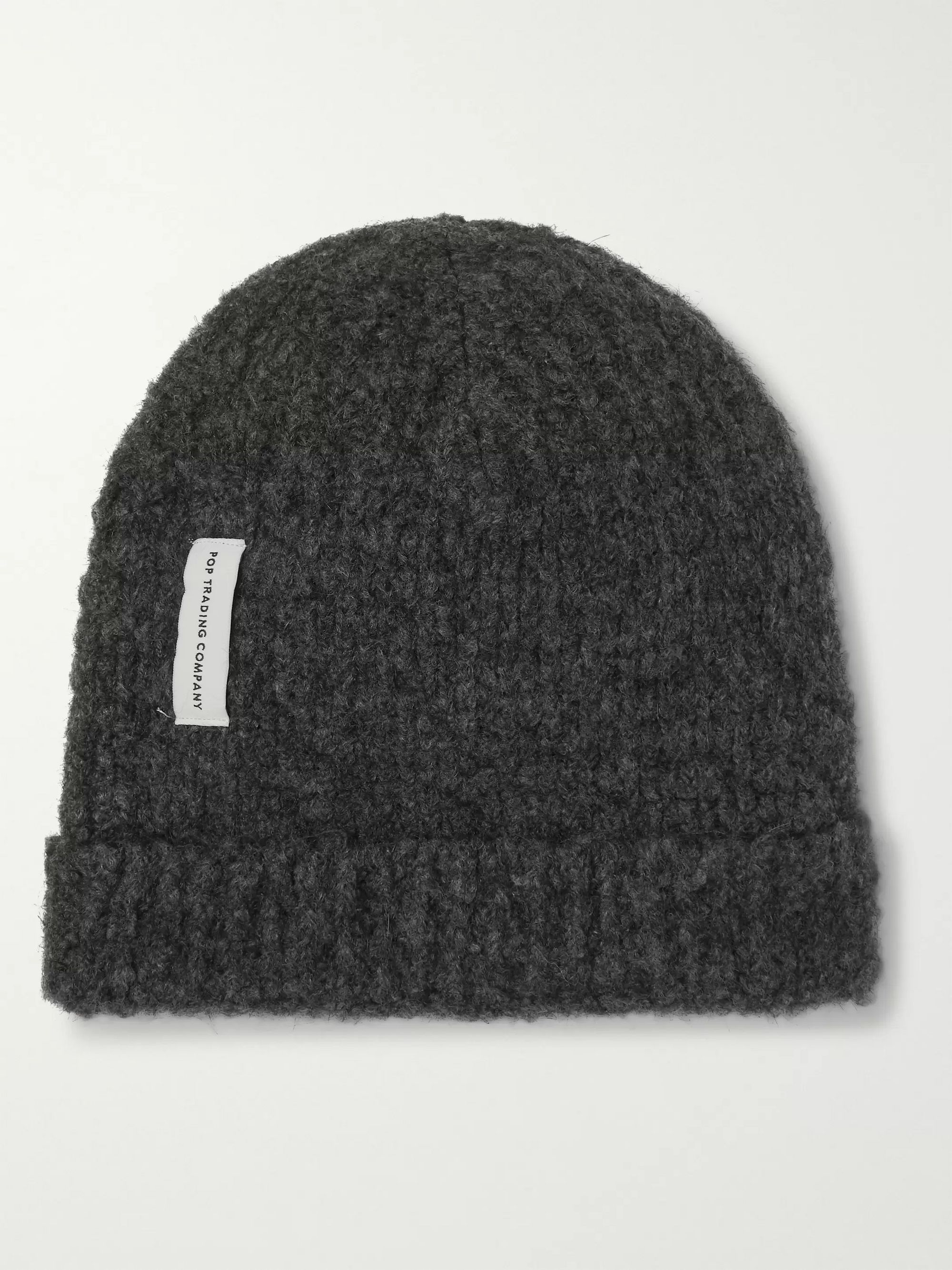 Pop Trading Company Logo-Appliquéd Stretch-Knit Beanie