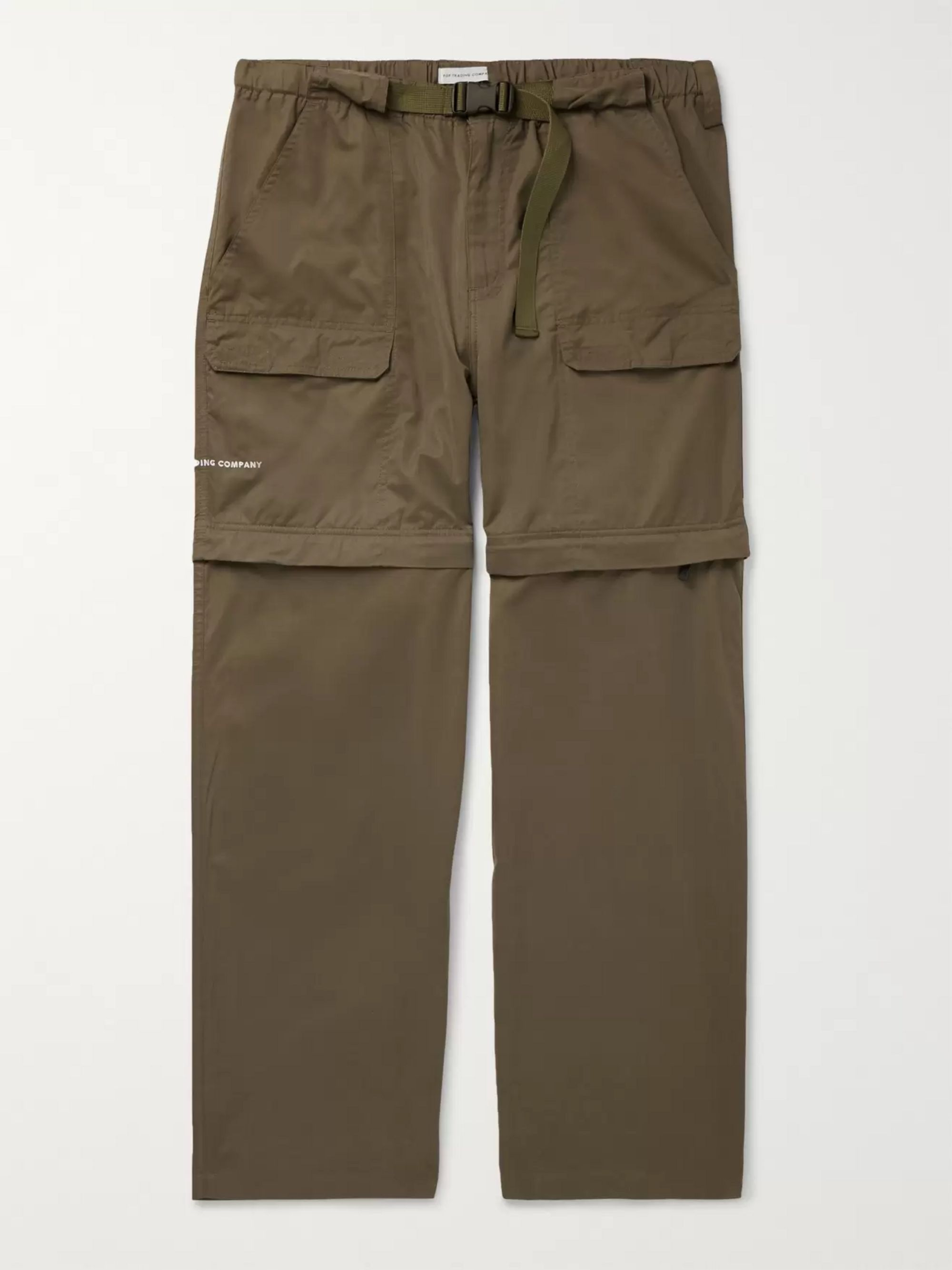 Pop Trading Company Wide-Leg Canvas Zip-Off Cargo Trousers