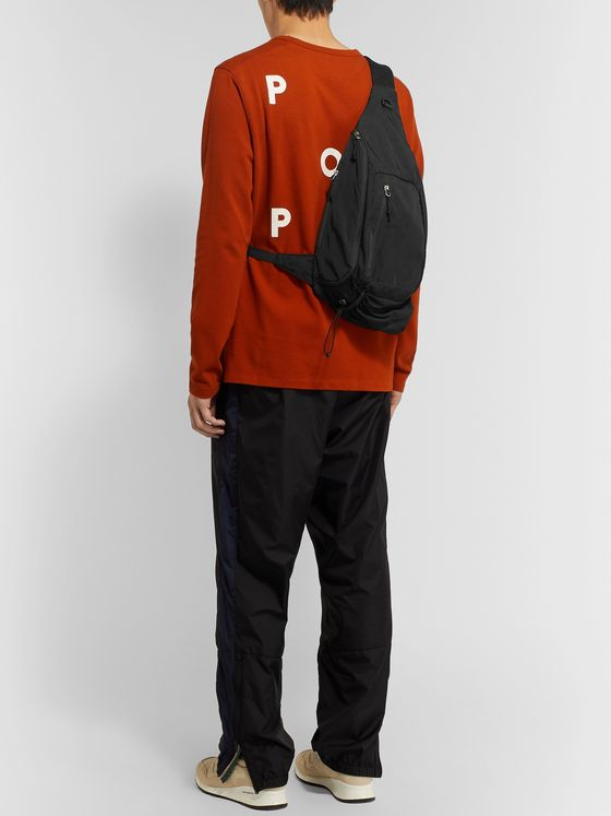 Pop Trading Company Logo-Embroidered Shell Sling Bag