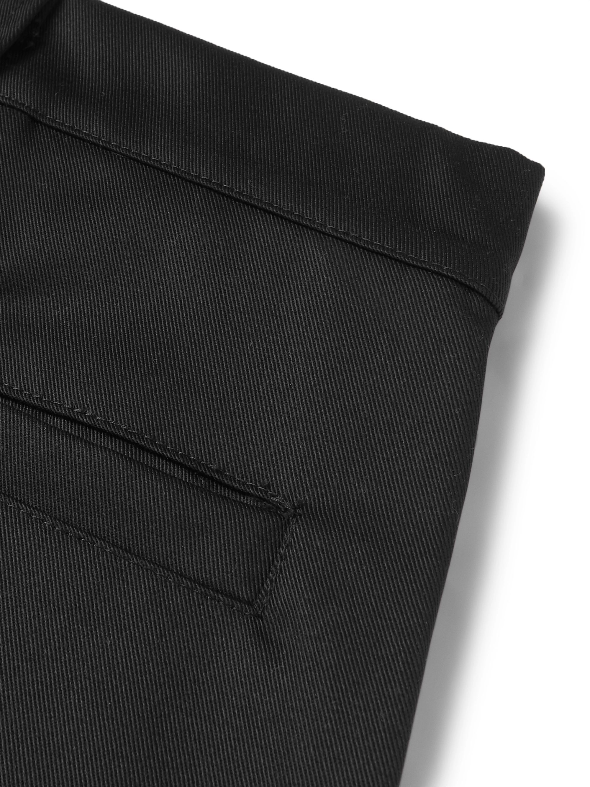 AFFIX Black Twill Trousers