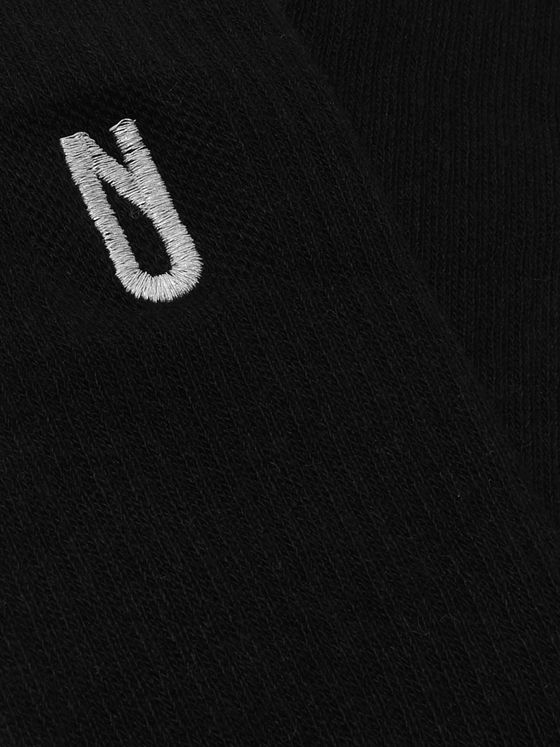 AFFIX Logo-Embroidered Cotton-Blend Socks