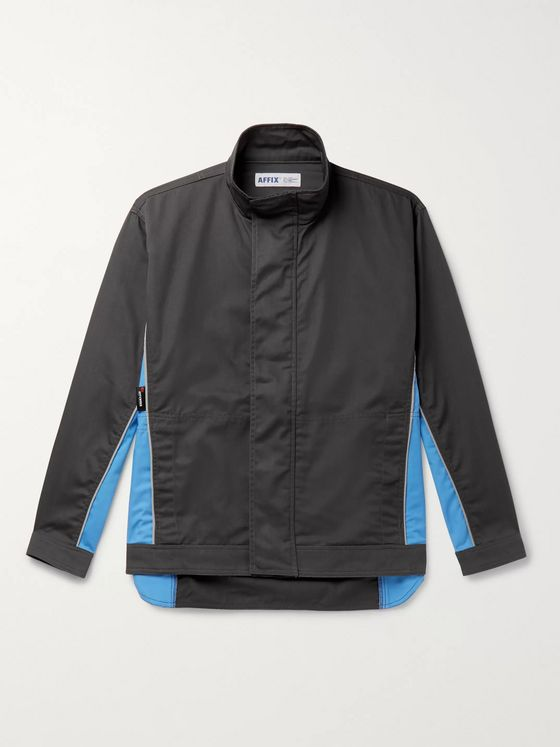 AFFIX Reflective-Trimmed Panelled Twill Track Jacket