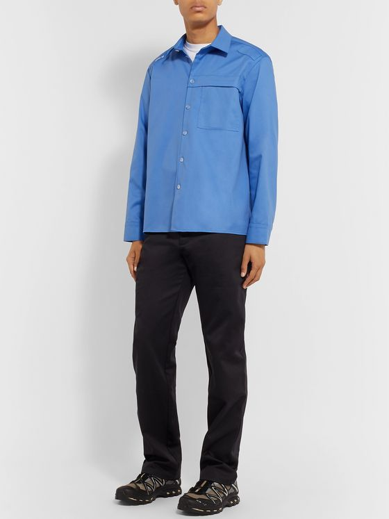 AFFIX Embroidered Twill Shirt