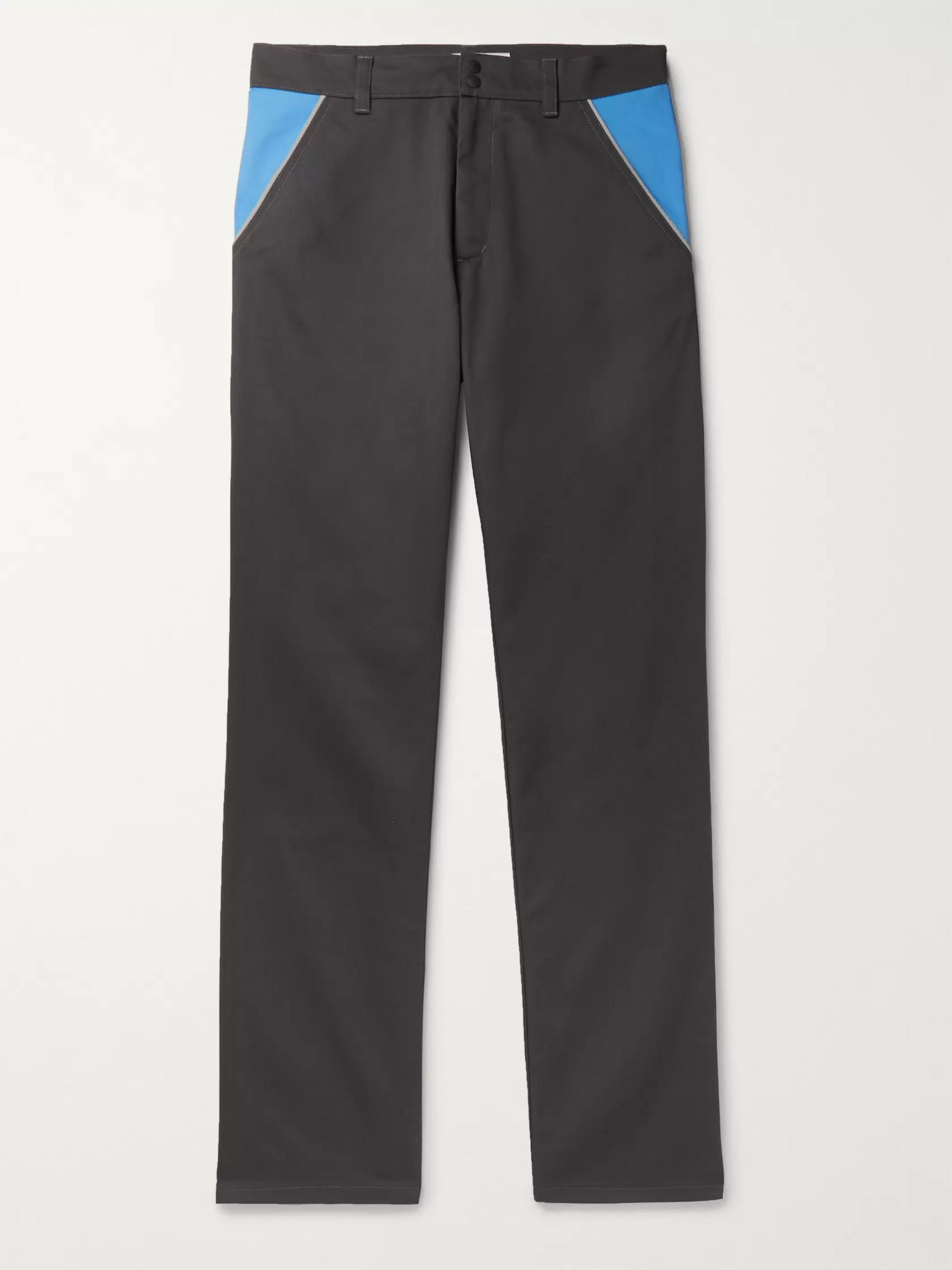 AFFIX Reflective-Trimmed Colour-Block Twill Trousers