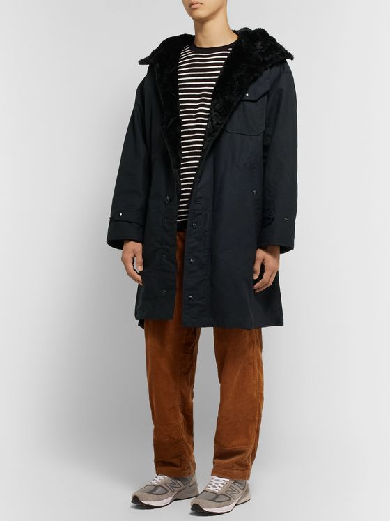 Engineered Garments Faux Fur-Lined Cotton-Canvas Hooded Parka