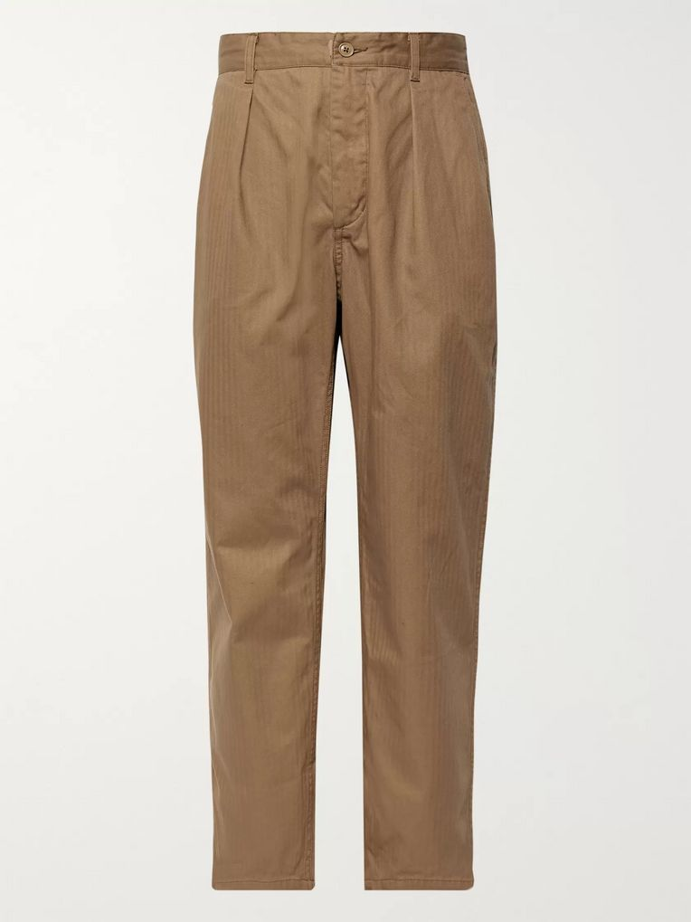 Engineered Garments Herringbone Cotton Trousers
