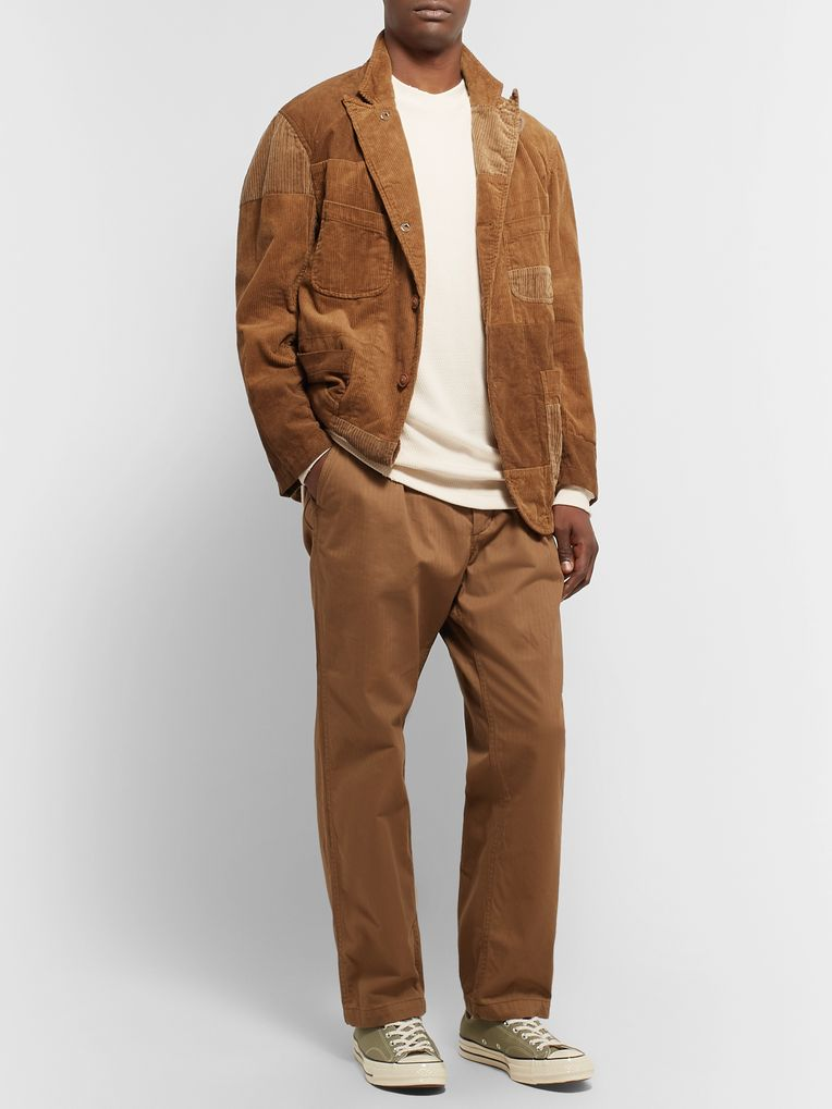 Engineered Garments Camel Patchwork Cotton-Corduroy Blazer