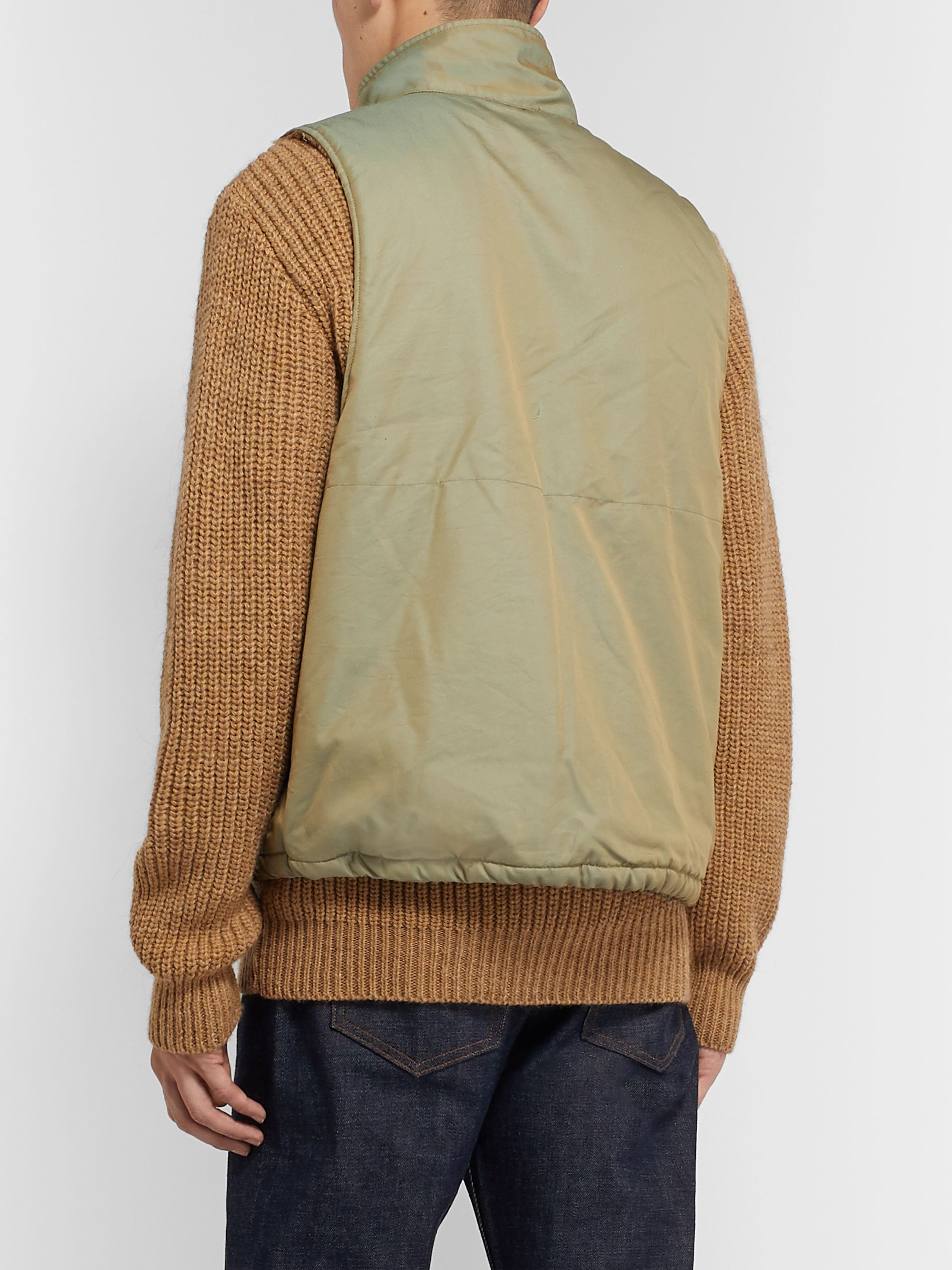 Engineered Garments Fleece-Lined Iridescent Twill Gilet