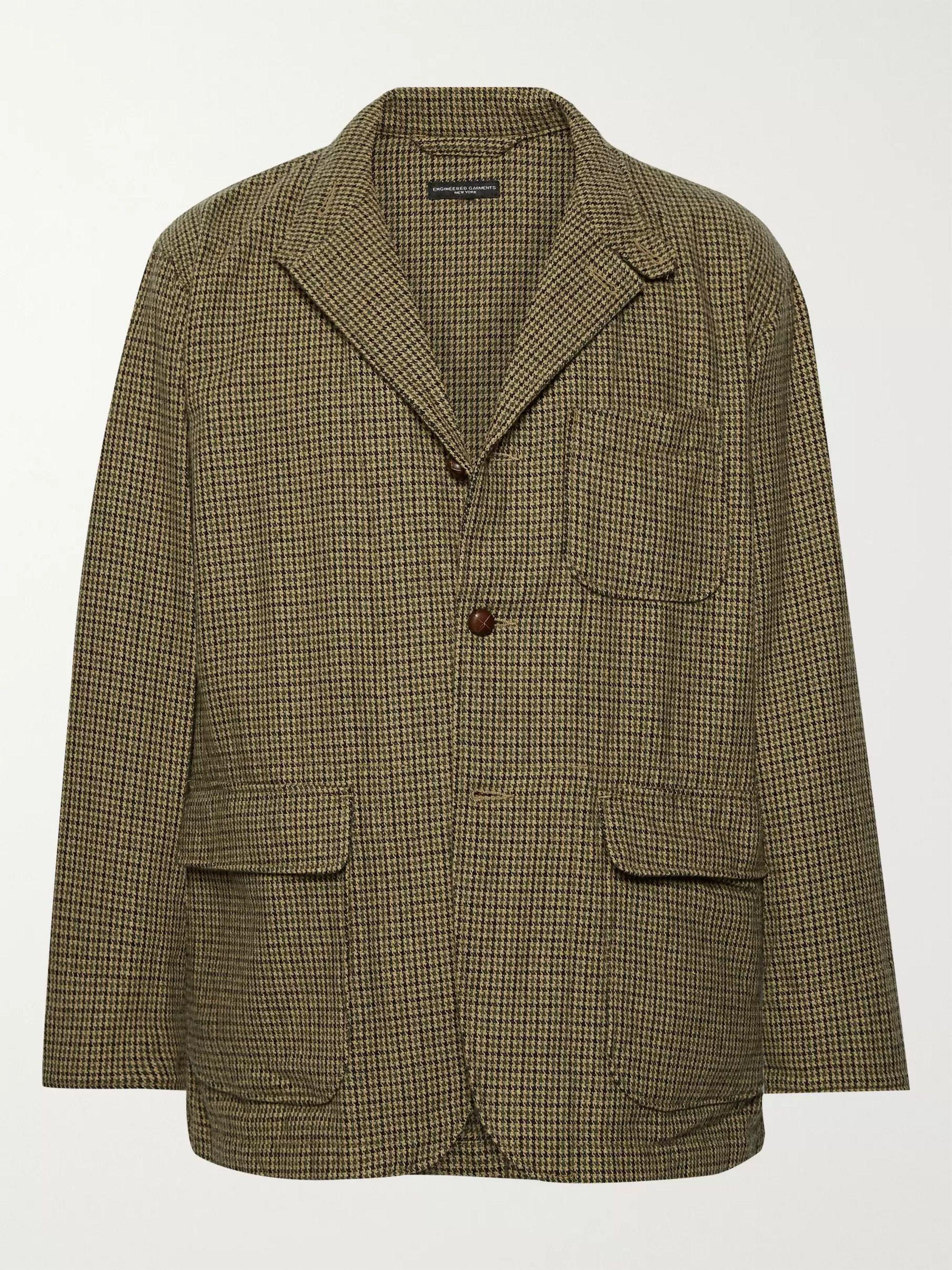 unstructured-puppytooth-woven-blazer by engineered-garments