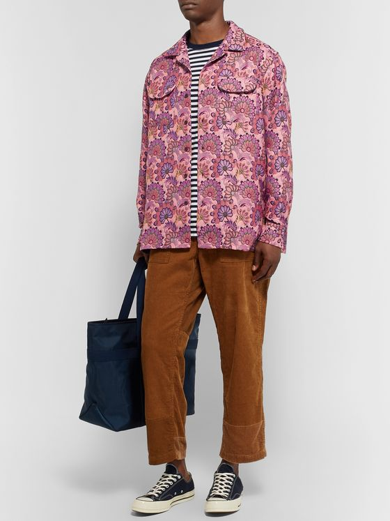 Engineered Garments Camp-Collar Floral-Print Jacquard Shirt