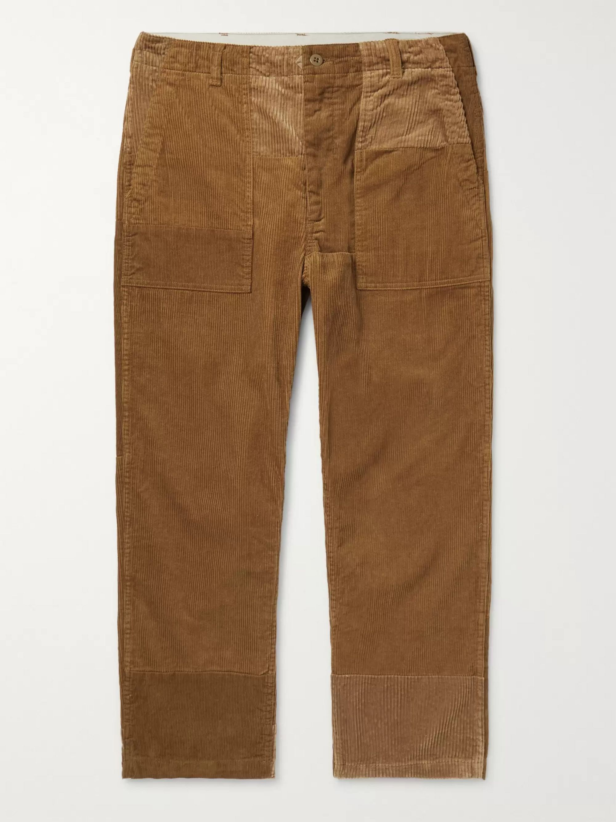 Patchwork Cotton Corduroy Trousers by Engineered Garments