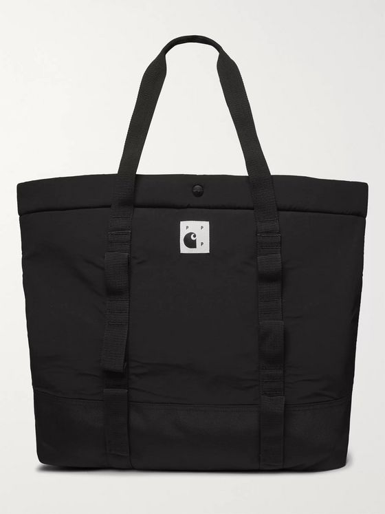 Pop Trading Company + Carhartt WIP Webbing-Trimmed Padded Shell Tote Bag