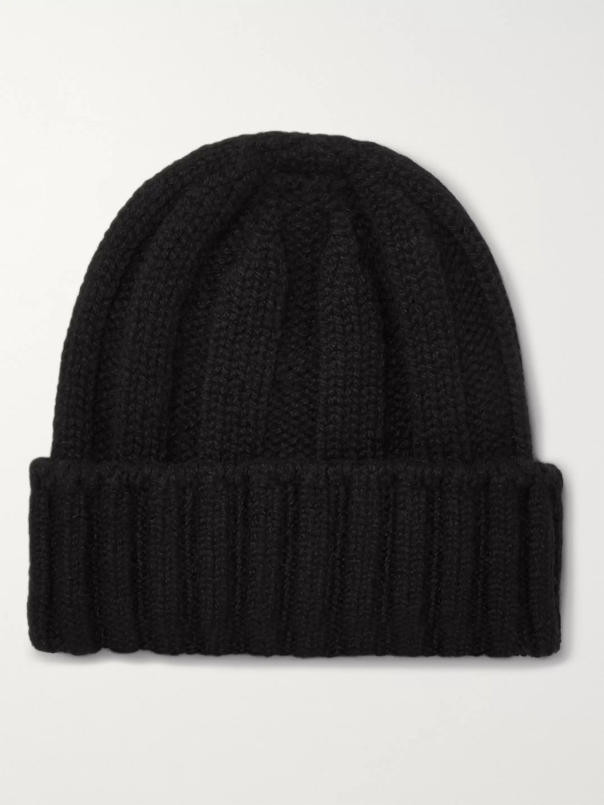 Beams Plus Ribbed Cashmere Beanie