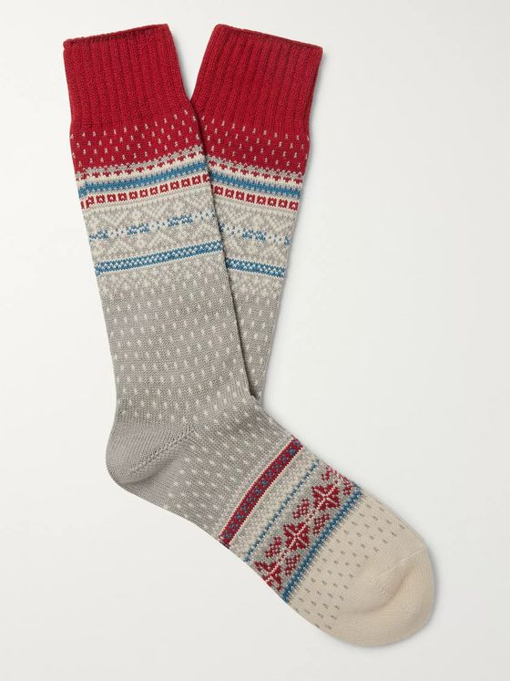 Beams Plus Nordic Fair Isle Knitted Socks