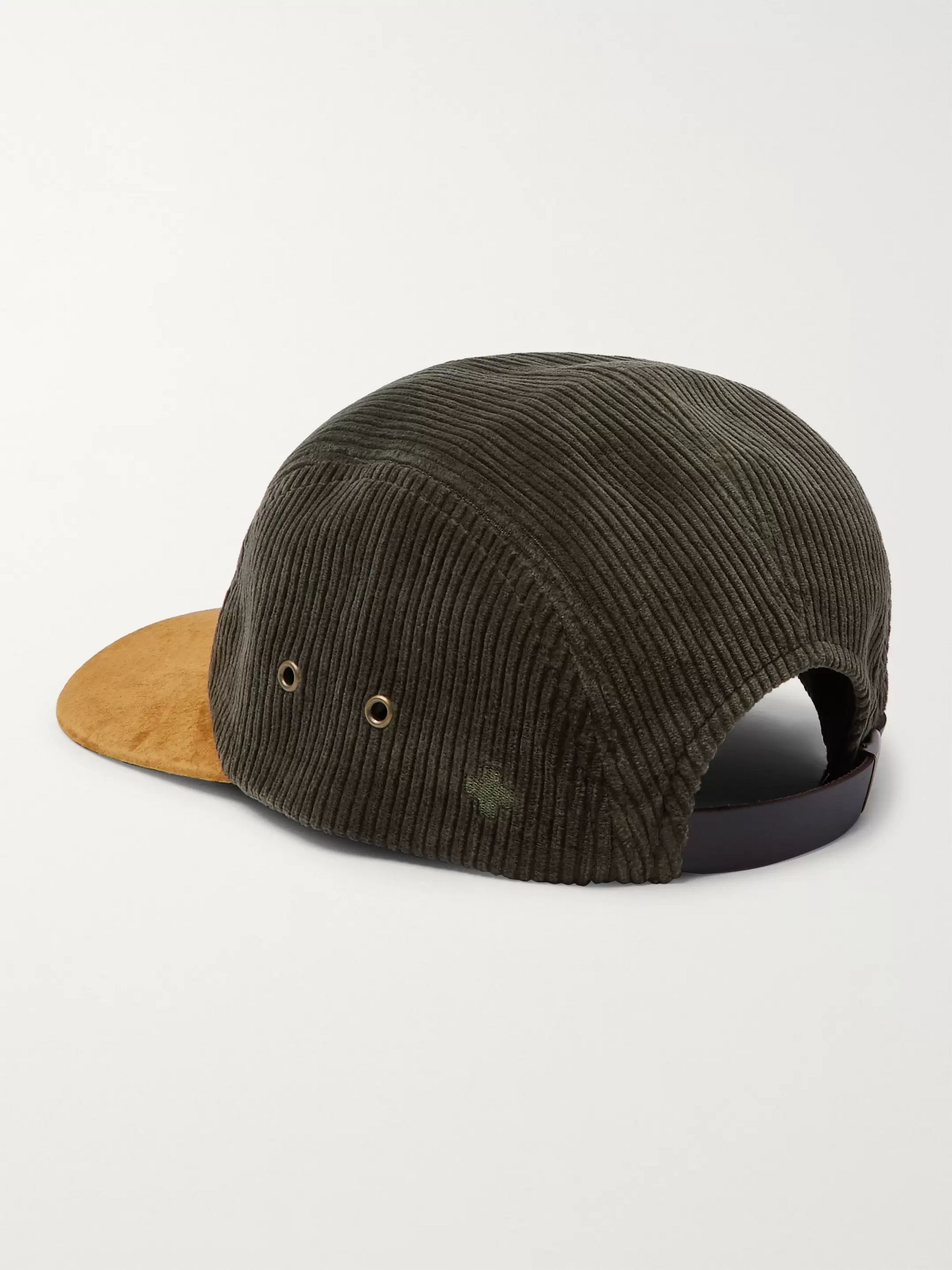 Beams Plus Suede-Panelled Cotton-Corduroy Baseball Cap