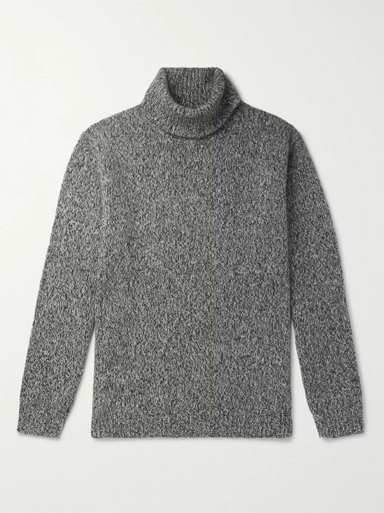 Beams Plus Mélange Cashmere Rollneck Sweater