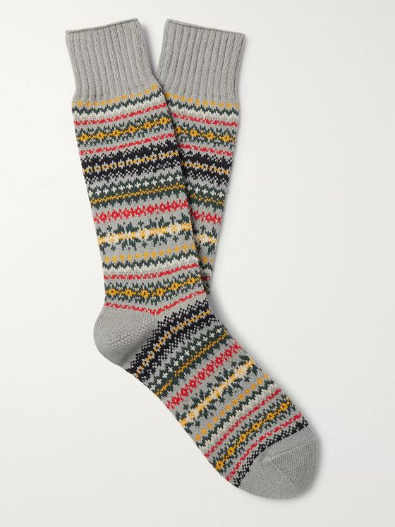 Beams Plus Fair Isle Knitted Socks