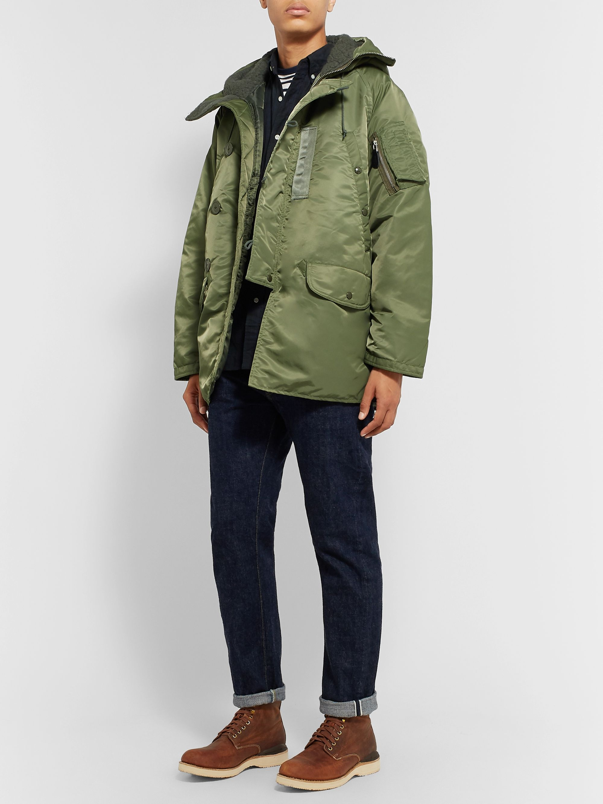 Beams Plus Quilted Shell PrimaLoft Down Parka