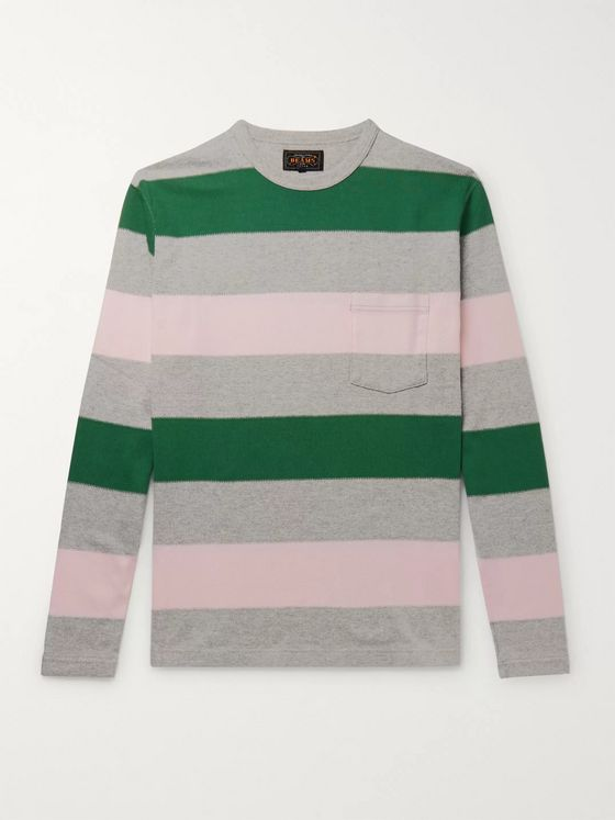 Beams Plus Striped Cotton T-Shirt