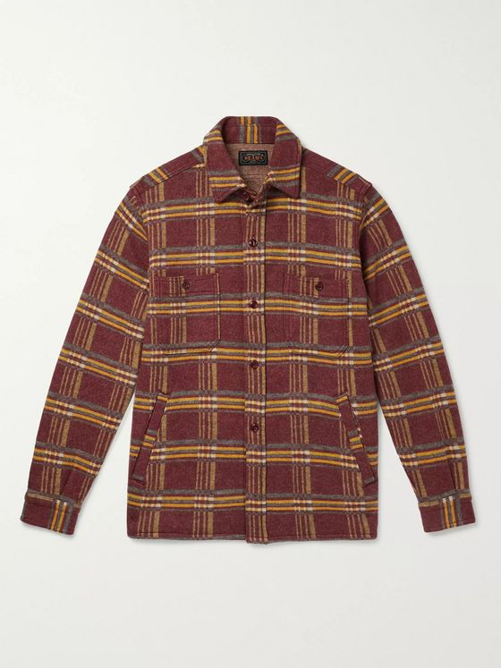 Beams Plus Checked Wool-Flannel Overshirt