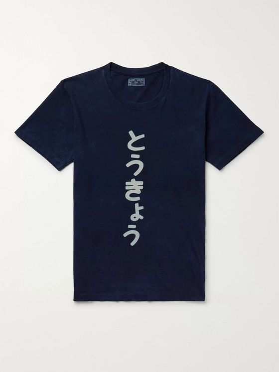 Blue Blue Japan Bassen-Dyed Cotton-Jersey T-Shirt