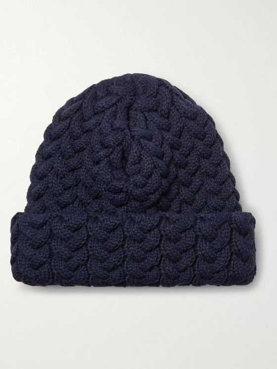 Blue Blue Japan Cable-Knit Beanie