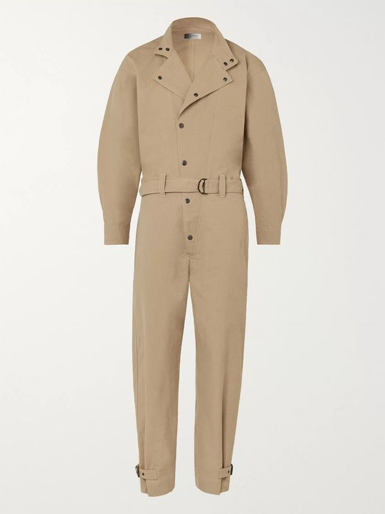 Isabel Marant Guero Belted Cotton-Twill Boilersuit